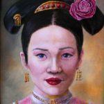portret, olieverf, schilderij, schilderkunst, japan, geisha