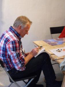 schilderworkshop haarlem, kromme gevel, meerluik, familie uitje, vrijgezellenfeest, bedrijfsuitje