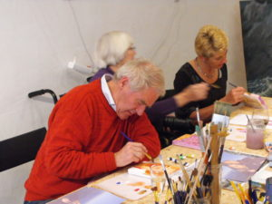 schilderworkshop, samen schilderen, meerluik, haarlem, familieactiviteit, vrijgezellen, bedrijfsuitje