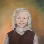 De Kromme Gevel, olieverf schilderij, kinderportret, portret, babyportret