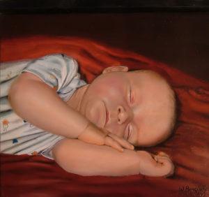 kinderportret, olieverf, de Kromme Gevel, Haarlem