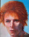 portret, olieverf, schilderij, schilderkunst, david bowie