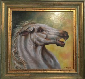 dierenportret, dierenschilderij, olieverf, Kromme Gevel, paard