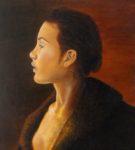 portret, olieverf, schilderij, schilderkunst, decolletee