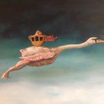 De Kromme Gevel verkoopt olieverf schilderijen, onderwerpen met symboliek, fantastisch realisme, magisch realisme, schilderkunst, symbolisme, koningshiis